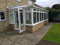 Large white conservatory for sale as whole or parts