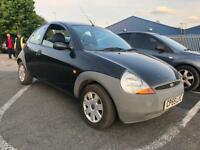 2005 Ford Ka Black 1.3 Petrol Bargain Quick Sale Low Mileage Mot Clean Alloys Service History 2 Keys