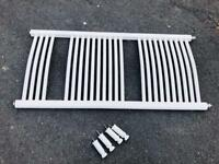 Towel Radiator 500X1200 White with wall fittings