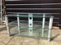 Glass and Chrome TV stand for sale