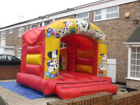 BOUNCY CASTLE DELMATION THEME 12 X 14 WITH WEBBING AND RAIN COVER