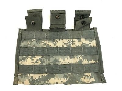 Pre-Owned Triple Mag Pouch, ACU Digicam Army 3 x 30 MOLLE II Side by Side Pouch
