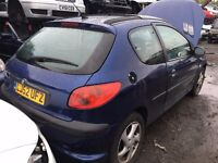 2002 PEUGEOT 206 XSI 16V (MANUAL PETROL)- FOR PARTS ONLY