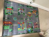 Kids large car play mat