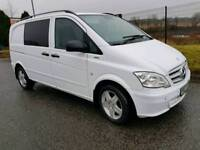 2012 DECEMBER MERCEDES VITO 113 CDI BLUE CY DUALINER...6-SEATER