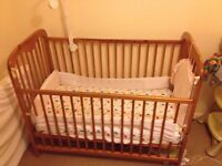 standard size cot with drop side