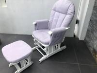 Brand new, never used - Reclining Glider Chair & Stool (ex display model)