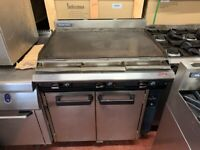90 CM GAS FLAT GRILL UNDER OVEN CATERING COMMERCIAL KITCHEN FAST FOOD SHOP