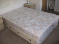 Double Bed Base 4 Drawers