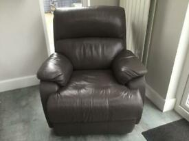 Reclining electric chair.
