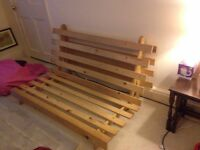 Lovely pine futon frame £15 ONO (frame only) - also good for a DIY project/upcyling!