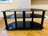 TV Unit Black Glass Mint Condition
