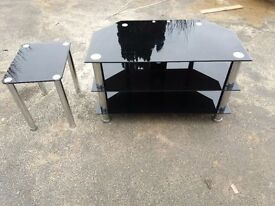 Glass TV stand and site table