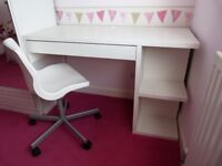 Desk Unit with Drawer, Shelving and Adjustable Chair