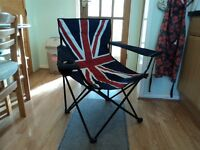 Union Jack Foldable chair