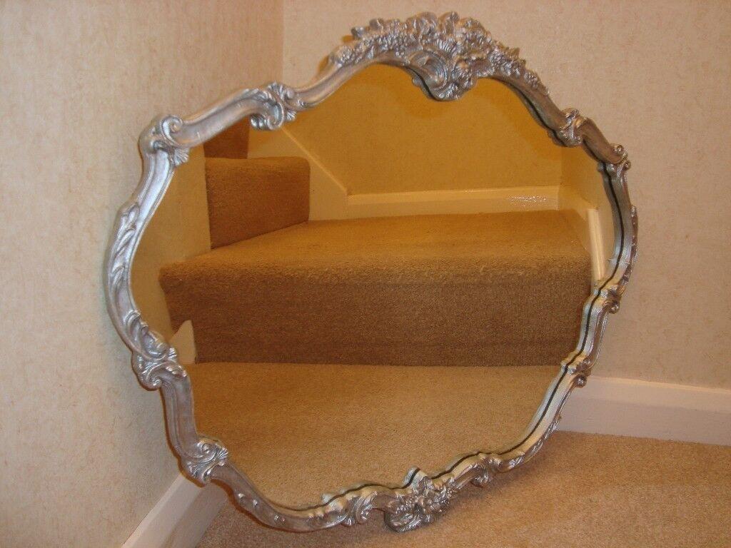 A Vintage Atsonea ornate silver mirror