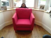 Red armchair. M&S make