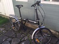Folding bike, 6-speed Shimano gears, ideal for commuting, fits in VW Golf boot esaily!