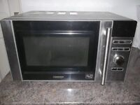 Microwave oven and grill , Silver.