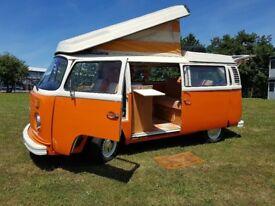 1972 Volkswagen T2 Westfalia Camper Van - a classic beautiful van that has been fully restored