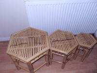 NEST OF 3 TABLES (NATURAL COLOUR)