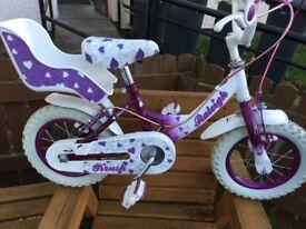 Kids 12.5 inch kids Raleigh bike, purple
