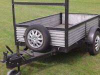 Strong Metal 7ft x 4ft Car Trailer, very good condition