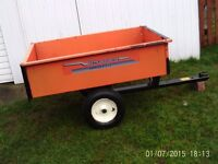 husqvarna 275 tipper trailer for ride on mower with new tyers