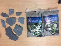 20Kg Aquarium Fish Tank Natural Gravel & Slate Rocks for Decoration