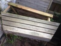Two Small (Odd-Shaped!) Garden Benches (Price Is For Both!)