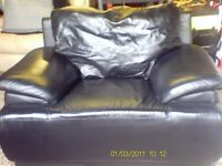 big real leather chair