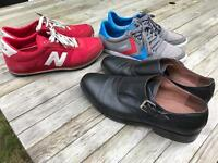 Shoes size 7. Reiss dress shoes , New Balance trainers , Hummel skate.