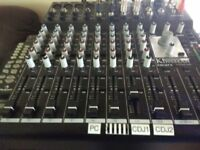500w AMP 12 CHANNEL KINGSMAN MIXER SONY MINI DISC DUAL CD DRIVES SPEAKERS AND MORE