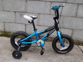 blue black kids bike specialized 12''