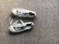 All star white converse trainers uk size 4