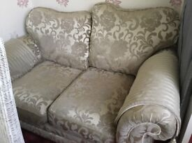 2 x seater brocade sofa