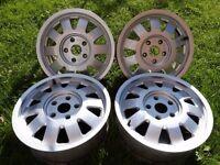 "FORGED Audi Alloy Wheels 15"" 5X112PCD A3 A4 A6 PASSAT GOLF 5 CADDY JETTA TOURAN"