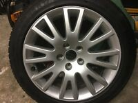 "Audi 17"" wheel with nearly new Continental tyre"