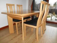 Dining Table (extendable) and Chairs