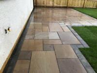Sandstone paving patios garden decking landscaping