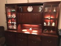 G-Plan Illuminated Mahogany Display/Drinks/Sideboard Combination Unit
