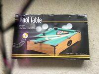 Mini pool table set for sale