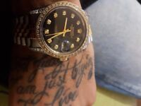 Iced out Rolex 18k