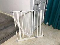White stair gate