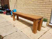 Pair of matching solid wood benches