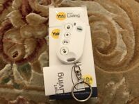Yale Smart Living alarm Key thob remote, instructions and box.
