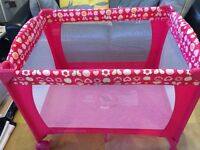 Mothercare Pink Travel Cot