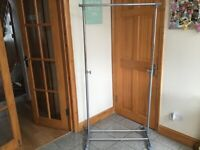 Clothing rail with wheels,height adjustable-also available in black-£10