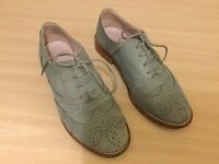 Women's Shoes from BODEN. Size 37. Light Blue. Lace-ups. Low heel
