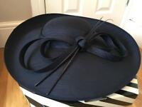 John Lewis Navy Hat/Fascinator